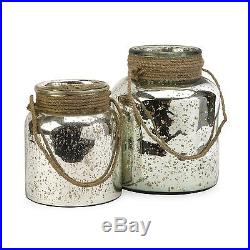IMAX Worldwide 84750-2 Bretton Jar with Jute Handle (Set of 2)