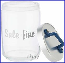 Italo Ottinetti Glass Jar Al Lid Painted Handle Blue 1 Litre Sf, one size