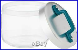 Italo Ottinetti Glass Jar Al Lid Painted Handle Green 0.5 Litre, one Size
