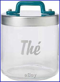Italo Ottinetti Glass Jar Al Lid Painted Handle Green 0.75 Litre Te, one size