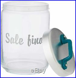 Italo Ottinetti Glass Jar Al Lid Painted Handle Green 1 Litre Sf, one size