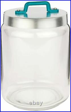 Italo Ottinetti Glass Jar Al Lid Painted Handle Green 2 Litre, one size