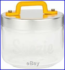 Italo Ottinetti Glass Jar Al Lid Painted Handle Yellow 0.5 Litre Sz, one size