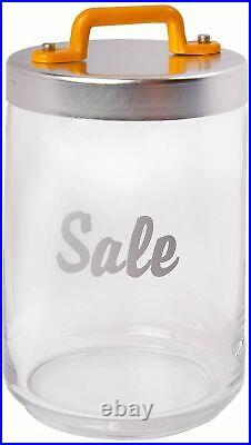 Italo Ottinetti Glass Jar Al Lid Painted Handle Yellow 1 Litre Sa, one size