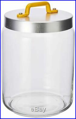Italo Ottinetti Glass Jar Al Lid Painted Handle Yellow 2 Litre, one Size