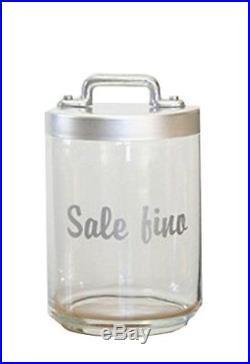 Italo Ottinetti Glass Jar Dull Aluminium Lid Al Handle 1 Litre Sale Fino, Metall