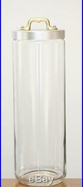 Italo Ottinetti Glass Jar Matte Finish Aluminium Lid Copper Handle