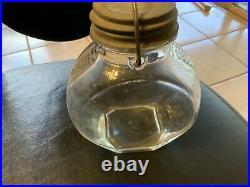 JUMBO Brand PEANUT BUTTER GLASS JAR Frank Tea Co Elephant 2 Pounds/ Lid/Handle