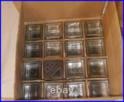 Kamenstein Cube Bamboo Inspirations Spice Rack 16 Labelled Glass Jars with Lids