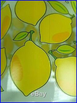 Lemons Sun Ice Tea Glass Jar Jug Pitcher withYellow Spout, Lid & Handle Free Ship