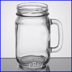 Libbey 97084 16 oz. Drinking Mason Jar with Handle 12/Case