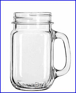 Libbey Drinking Jar with Handle, 16 -Ounce, Set of 12 16 oz