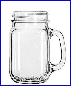 Libbey Glass Mugs and Tankards, Drink Jar, 16.5oz, 5 1/4 Tall 11 pcs