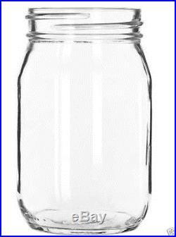 Libbey Mason Jar 16 ounce No Handle Drinking Glass 12 piece / 1 case