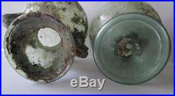 Lot Of Two Aantik Roman Glass Jar With Two Handles