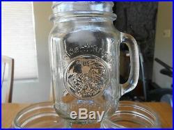 Lot of 6 GOLDEN HARVEST Handled DRINKING JARS Mugs 5 Tall (Pint)