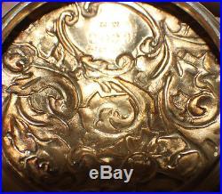 MT. WASHINGTON-CROWN MILANO-SWEETMEAT JAR WithLID-HANDLE-GOLD ROSES MOTIF C 1890