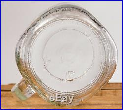 Mason Jar Drinking Mug 32oz Clear Glass Handle Country Hearth VTG Large Stein