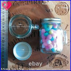 Mini Mason Jar Glass Shot with Handle Centerpiece Party Favor Box Candle Holder