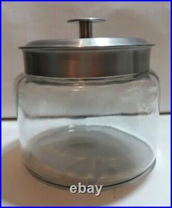 Mini Montana Jar with Handled Brushed Aluminum Lid, Keep Ingredients Fresh