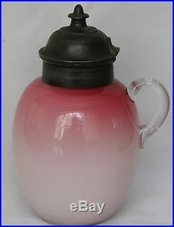 Mount Washington Peachblow Syrup Jar with Applied Handle -Dated 1894