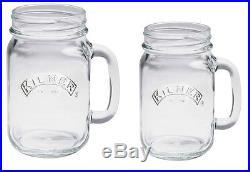 NEW Kilner Large 540ml Glass Handle Drinks Mug Tumbler Cocktail Beer Jar