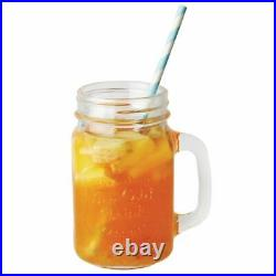 Olympia Handled Mason Jar in Clear Made of Glass Capacity 450 ml / 16 oz