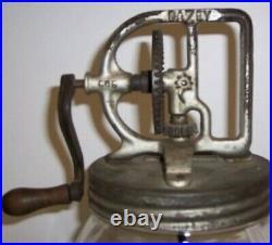 Original 1922 Dazey Butter Churn No. 60 Glass Mason Jar Farmhouse Thanksgiving