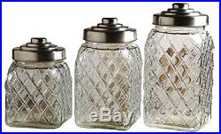 Palais Glassware Preserving Glass Canister Food Jar with Ceramic Lid Handle Se