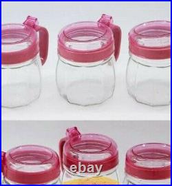 Pieces Spice Bottle Set with Spoons New, Clear Glass Jars with Lids