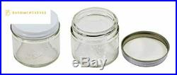Pinnacle Mercantile 2 oz Glass Jars Containers Spice Straight Sided with White M