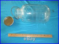 RARE / VINTAGE APROX 9 GLASS BEST FOODS MAYONNAISE JAR WithMETAL HANDLE