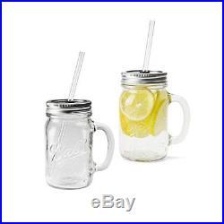 REDNEK HANDLED GLASS MUG 16oz 2Pcs Ball MAIOSN Jar red neck handle glass. P/O