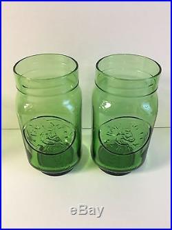 Rolling Rock 33 Beer Tap Handle & Two (2) Embossed Mason Jar Green Glasses NEW