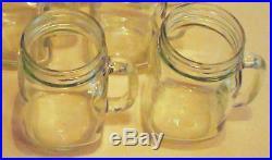 Rustic Bridal Wedding Clear Mason Jars with Handles 2 1/2 Dozen Lot of 30 jars