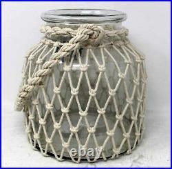 Sand & Sea Jumbo Glass Decorative Jar WithRope Handle 1 Count