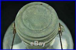 Speas Vinegars vintage U-Savit 1 Gallon Wood Handled Glass Jar Zinc Atlas Lid