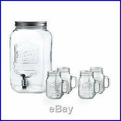 Style Setter Hand Jay Imports Beverage Set-Dispenser 2 Gallon/ 4 Mason Jar Mu