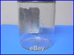 VINTAGE KRAFT PEANUT BUTTER GLASS JAR WITH HANDLE 4 IBS