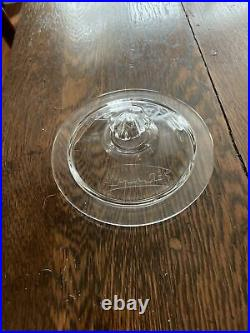 VINTAGE LANCE GLASS LID Embossed Glass CRACKER JAR LID ONLY Octagon Handle