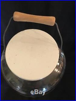 Vintage 2 1/2 gallon Duraglas Pickle Jar with Bale Wire & Woode Handle