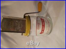 Vintage Androck Nut/Meat Chopper withGlass Jar n Wooden Handled Crank
