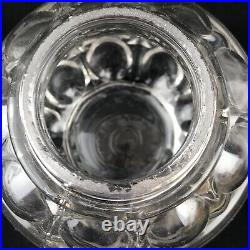 Vintage Bail Handle Glass Apothecary Jar Candy Container Store Display 8-1/2