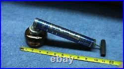 Vintage Chapin Pump Plant Bug Sprayer Amber Glass Jar-Wooden Handle nos #8614