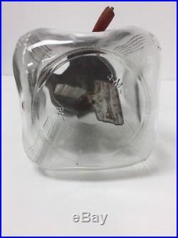 Vintage Dazey Butter Churn Red Bullet Top/Crank Handle on Glass Barrel Jar