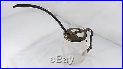 Vintage Glass Jar Brass Spout And Handle Watering Can