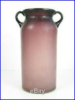 Vintage Jar Design 60's Glass Violet Satin Two-handled School Murano