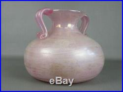 Vintage Jar Two-Handled Abu Dhabi World Champion Amphora Glass Murano Pink