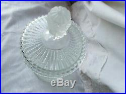 Vintage MMA Imperial Glass 3 Face Bust Handle Lid Humidor Biscuit Barrel Jar