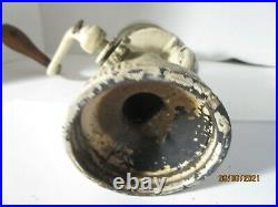 Vintage Metal Hand Grinder Chopper with Handle and Glass Jar Nuts Coffee